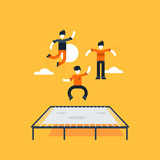Fototapety Bouncing on a trampoline