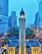 The landmark Chicago Water Tower, located on Michigan Avenue