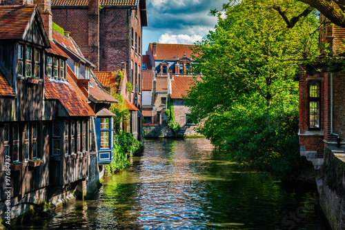 Deurstickers Brugge Bruges Brugge town, Belgium