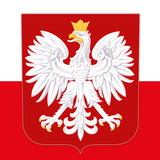 Fototapety poland coat of arms and flag
