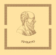 Постер, плакат: Ancient greek philosopher Socrates