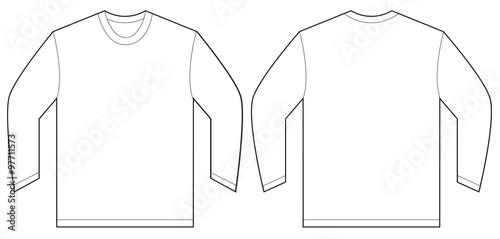 White long sleeve t shirt design template imagens e for Long sleeve t shirt template