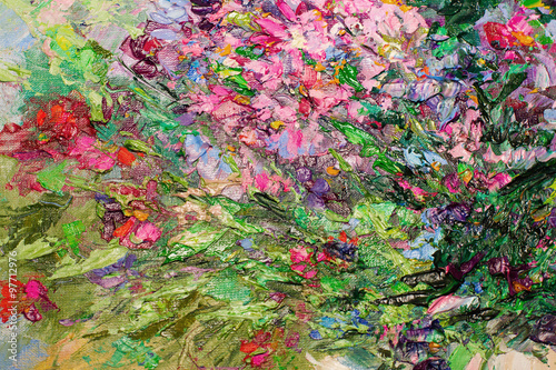 texture of oil painting, Art Painted Image color, paint, - 97712976
