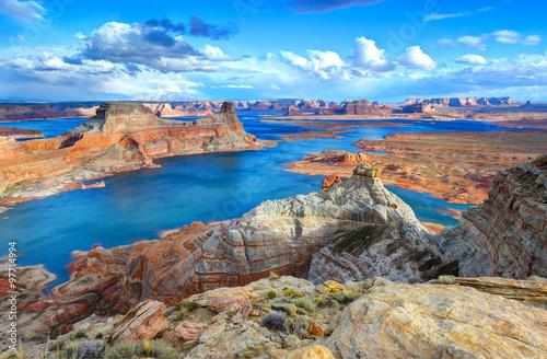 Fototapety, obrazy : Alstrom point, Lake Powell, Page, Arizona, united states