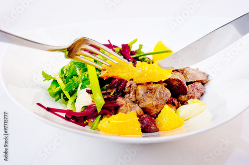 Chicken Liver and Beet-Root Salad
