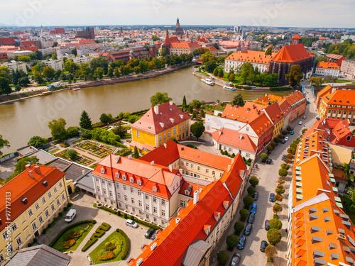 Zdjęcia na płótnie, fototapety na wymiar, obrazy na ścianę : Wroclaw aerial view