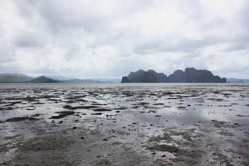 odpływ morza, Filipiny, egzotyczna wyspa, plaża