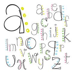 font; alphabet; letter; lettering; script; vector; hand; brush;
