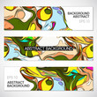 Abstract background set, paint style.