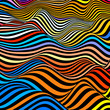 Abstract wave background in vector