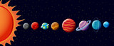 Fototapety Planets in solar system