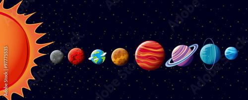 Fototapeta Planets in solar system