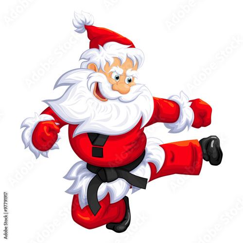 santa claus jump kick