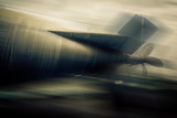 war submarine - blurred style photo