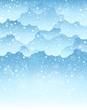Winter sky theme background 2