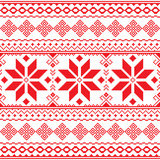 Traditional folk red embroidery pattern from Ukraine or Belarus - Vyshyvanka  - 97866942