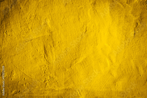 Foto Murales yellow concrete wall texture background