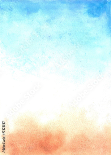 Abstract watercolor background - 97875587