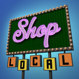 Shop Local Neon Sign