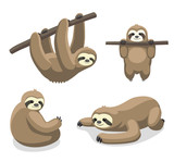 Sloth Cartoon Vector Illustration 1