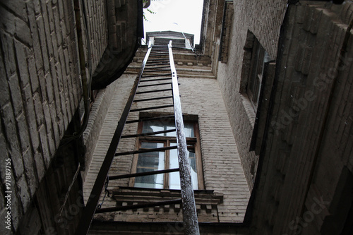 rainy ladder in the old house © blinoff