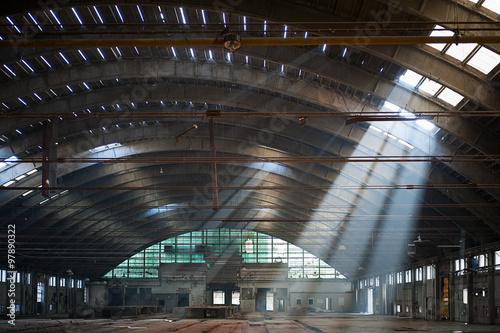 Foto op Aluminium Oude verlaten gebouwen Abandoned factory - Italy