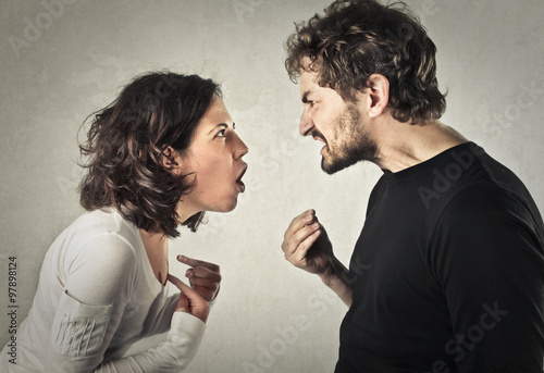 Arguing couple Poster