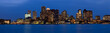 Skyline of Boston at twilight, Boston, Massachusetts, USA