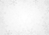 Fototapety Snowflake Simple Vector Background White