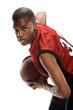 Young Black basketball player