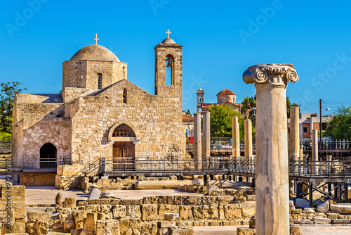 Keuken foto achterwand Cyprus Panagia Chrysopolitissa Basilica in Paphos - Cyprus