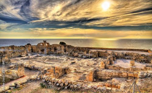 Fotobehang Cyprus Ruins of Kourion, an ancient Greek city in Cyprus