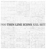 Thin line icons exclusive XXL collection - 97935930