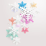 Fototapety Christmas background with snowflakes