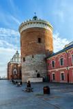Średniowieczny zamek królewski w centrum miasta. Lublin, Polska.