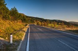 Road in Karst in Autumn