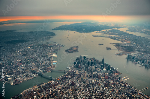 Manhattan aerial Poster