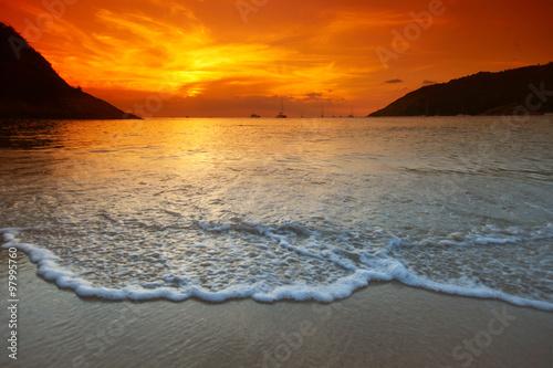 obraz lub plakat Sea sunset
