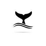 Fototapety Whale tail icon.