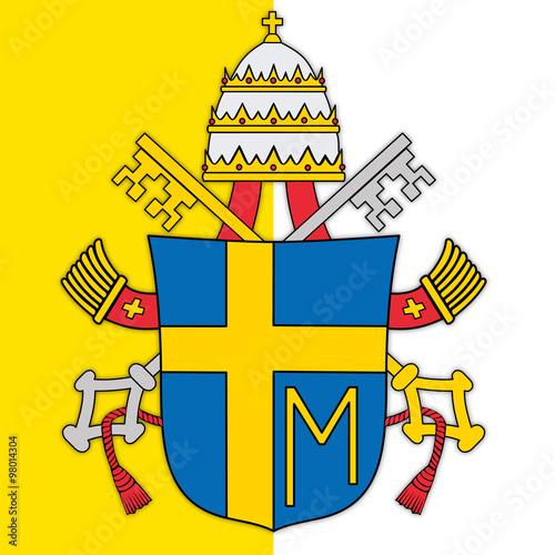 Naklejka pope john paul second coat of arms