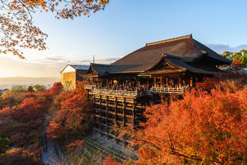 Kiyomizu-dera Rozciągacz w Kioto, Japonia