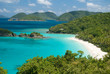 View of Trunk Bay on St John , United States Virgin Islands.