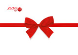 Ribbon with red bow.