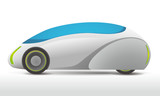Fototapety generic future vehicle, side view, vector illustration