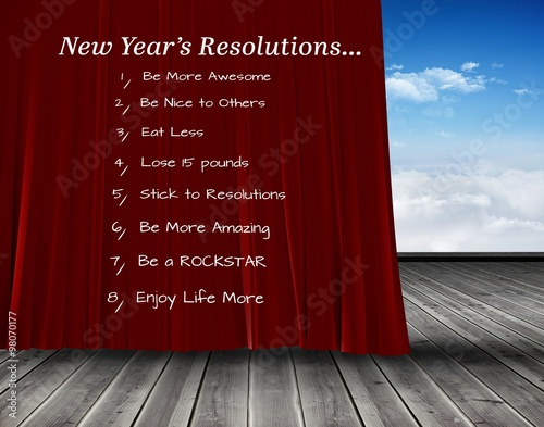 Poster Composite image of new years resolutions