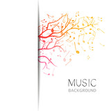 Fototapety Vector Illustration of an Abstract Music Design