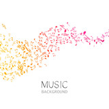 Fototapety Vector Illustration of an Abstract Music Background