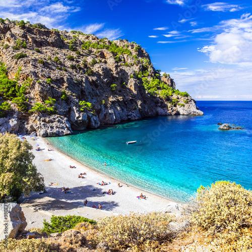 Zdjęcia na płótnie, fototapety, obrazy : amazing beaches of Greek islands. Karpathos, Achata