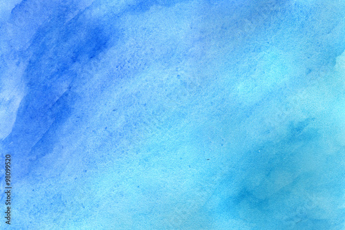 Niebieskie tło w akwarela