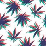 Fototapety Marijuana Seamless Vector Pattern